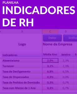 Planilha Indicadores de RH