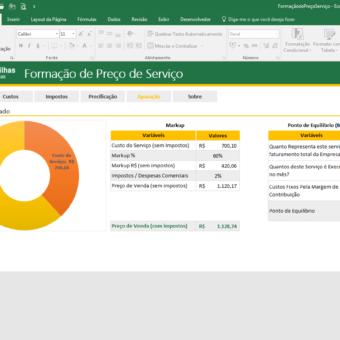 FormaçãodePreçoServiço – Excel