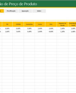 Planilha Excel Formação de Preço