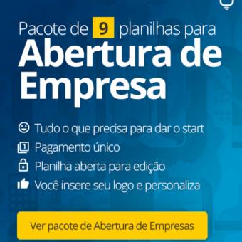 Pacote de Planilhas para Abertura de Empresa