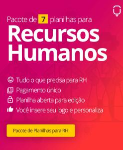 Planilha Pacote de Recursos Humanos