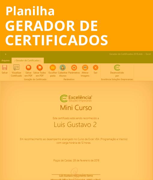 Gerador de Certificados